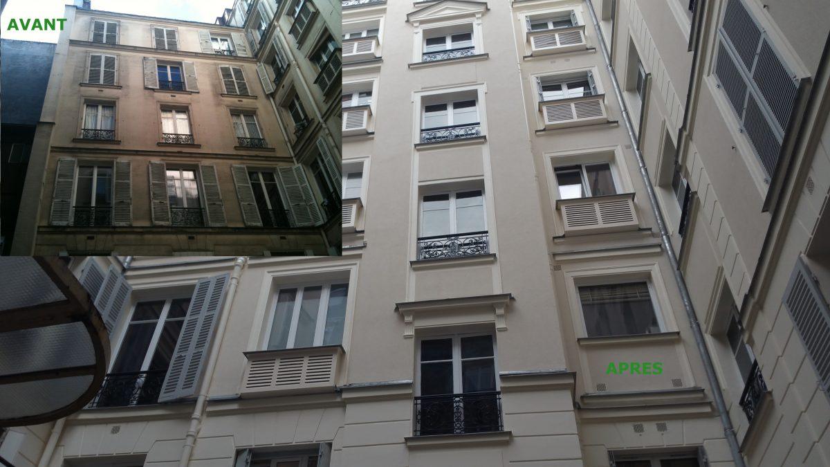 Ravalement d'immeuble à Paris